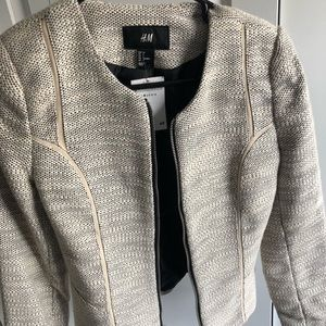 NWT Cream color tweed blazer.